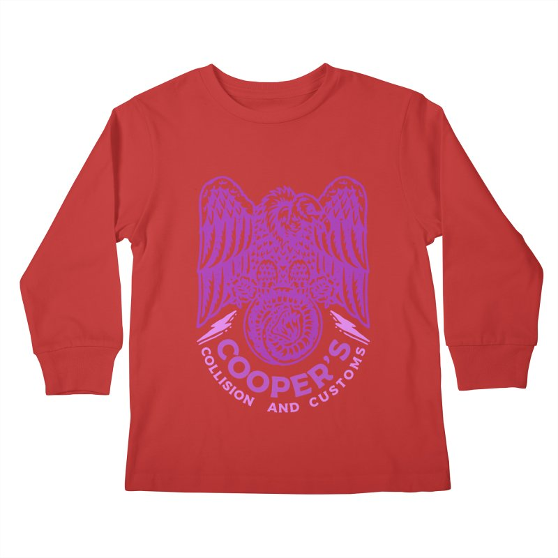 Cooper's Collision & Customs (Luna and the Lie) Kids Longsleeve T-Shirt by M A R I A N A    Z A P A T A