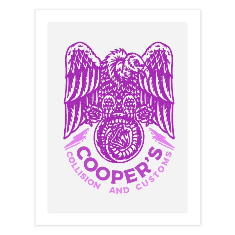 Cooper's Collision & Customs (Luna and the Lie) Home Fine Art Print by M A R I A N A    Z A P A T A