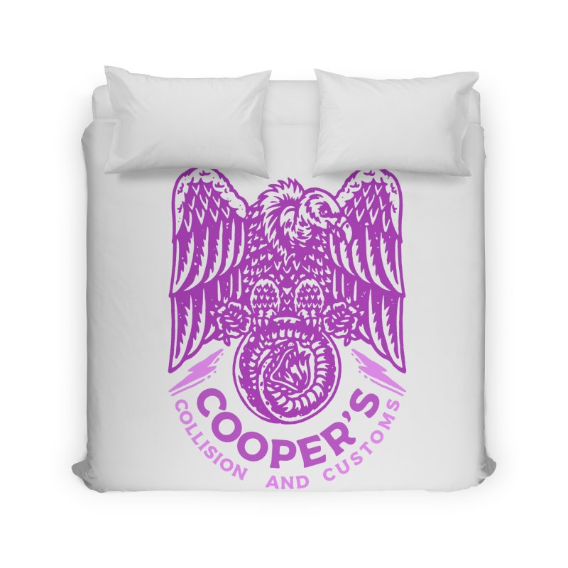 Cooper's Collision & Customs (Luna and the Lie) Home Duvet by M A R I A N A    Z A P A T A