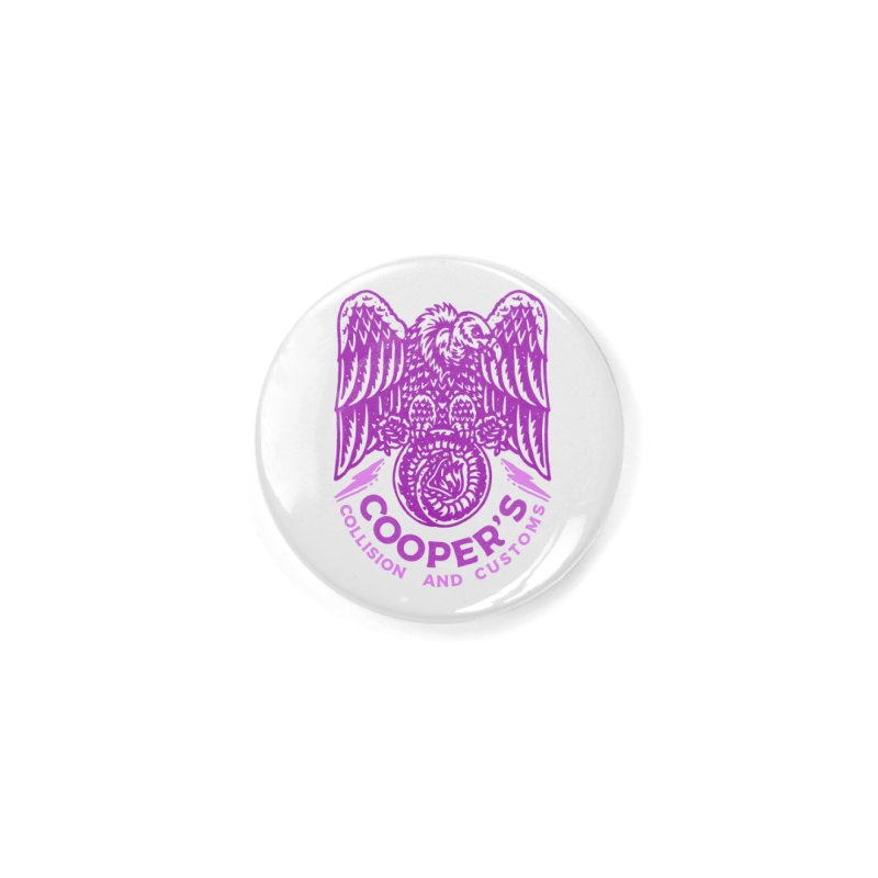 Cooper's Collision & Customs (Luna and the Lie) Accessories Button by M A R I A N A    Z A P A T A