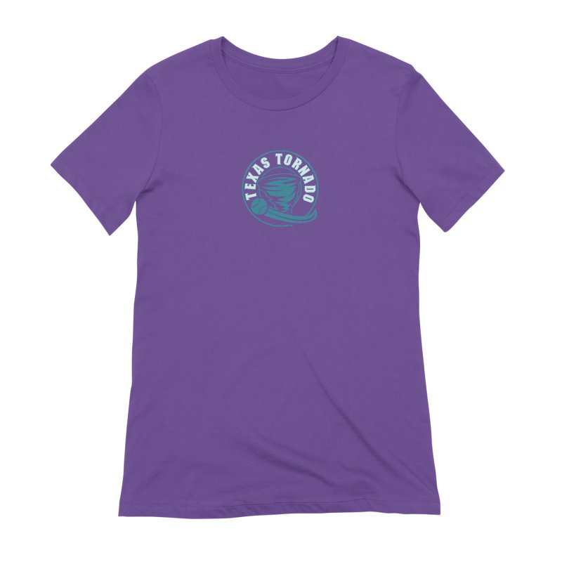 Texas Tornado (Wait for It) (Small Design) Women's Extra Soft T-Shirt by M A R I A N A    Z A P A T A