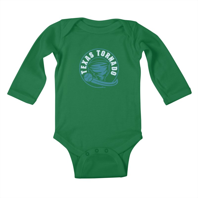Texas Tornado (Wait for It) (Small Design) Kids Baby Longsleeve Bodysuit by M A R I A N A    Z A P A T A
