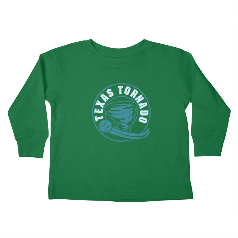 Texas Tornado (Wait for It) (Small Design) Kids Toddler Longsleeve T-Shirt by M A R I A N A    Z A P A T A