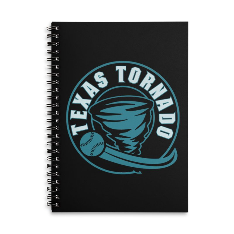 Texas Tornado (Wait for It) (Small Design) Accessories Lined Spiral Notebook by M A R I A N A    Z A P A T A