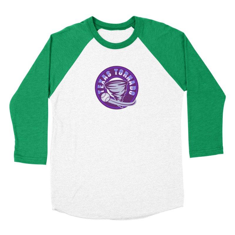 Texas Tornado (Wait for It) (Small Design) Men's Baseball Triblend Longsleeve T-Shirt by M A R I A N A    Z A P A T A
