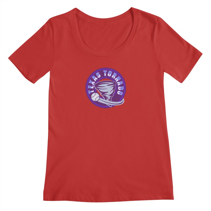 Texas Tornado (Wait for It) (Small Design) Women's Scoop Neck by M A R I A N A    Z A P A T A