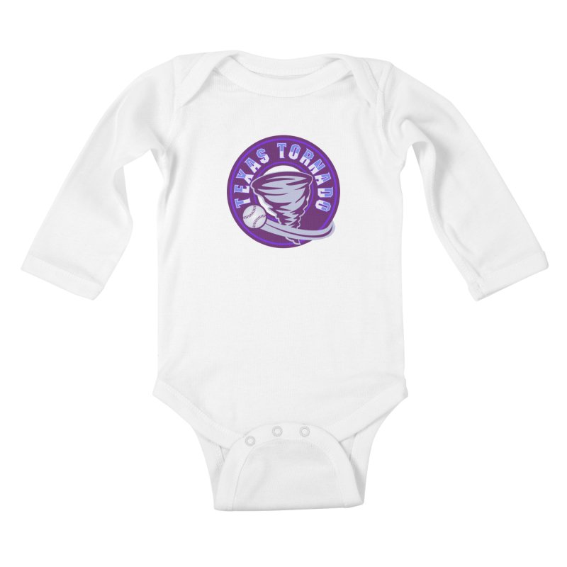 Texas Tornado (Wait for It) (Small Design) Kids Baby Longsleeve Bodysuit by M A R I A N A    Z A P A T A