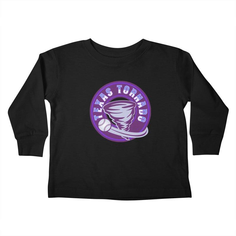 Texas Tornado (Wait for It) (Small Design) Kids Toddler Longsleeve T-Shirt by M A R I A N A    Z A P A T A