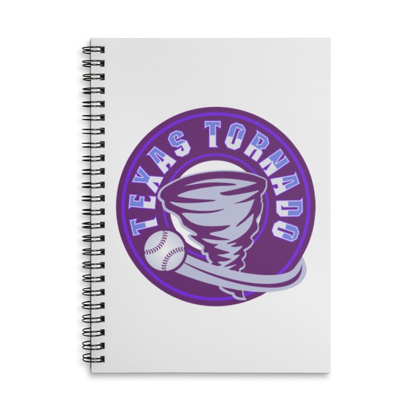Texas Tornado (Wait for It) Accessories Lined Spiral Notebook by M A R I A N A    Z A P A T A