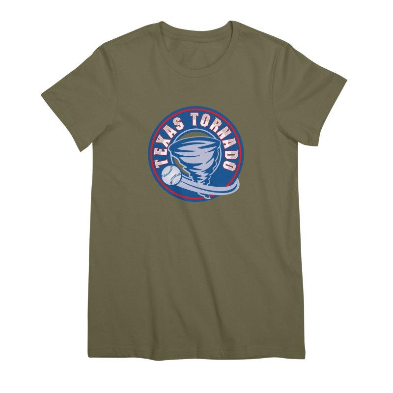 Texas Tornado (Wait For It) Large Design Women's Premium T-Shirt by M A R I A N A    Z A P A T A