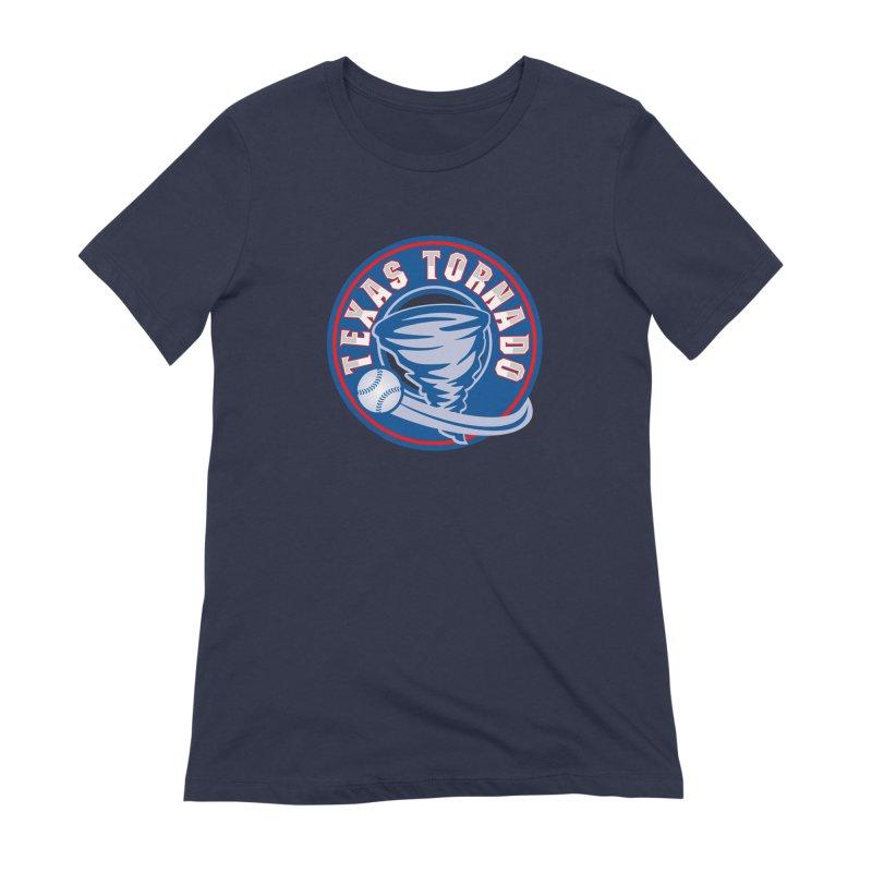 Texas Tornado (Wait For It) Large Design Women's Extra Soft T-Shirt by M A R I A N A    Z A P A T A