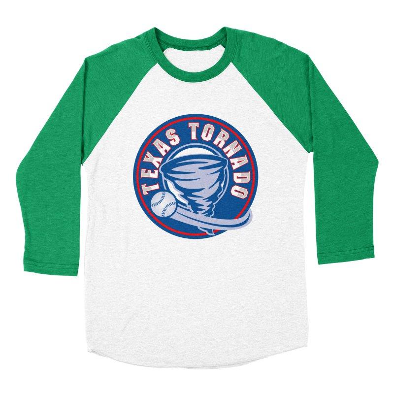 Texas Tornado (Wait For It) Large Design Women's Baseball Triblend Longsleeve T-Shirt by M A R I A N A    Z A P A T A