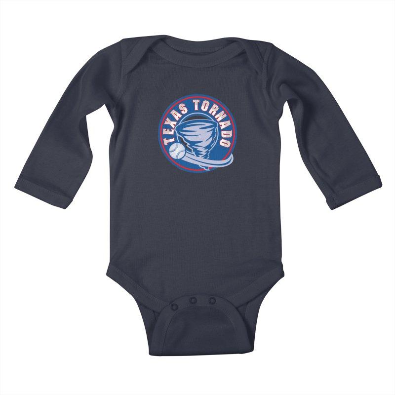 Texas Tornado (Wait For It) Large Design Kids Baby Longsleeve Bodysuit by M A R I A N A    Z A P A T A