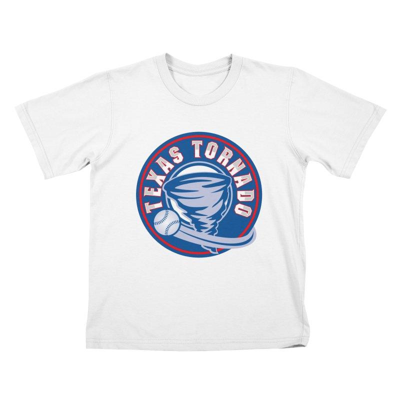 Texas Tornado (Wait For It) Large Design Kids T-Shirt by M A R I A N A    Z A P A T A