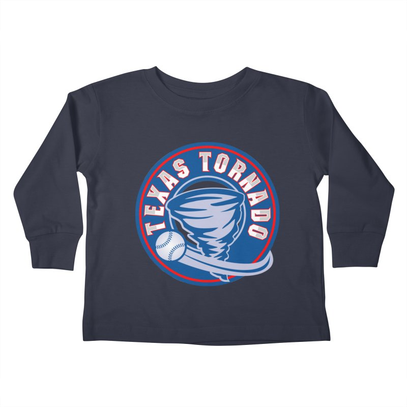 Texas Tornado (Wait For It) Large Design Kids Toddler Longsleeve T-Shirt by M A R I A N A    Z A P A T A