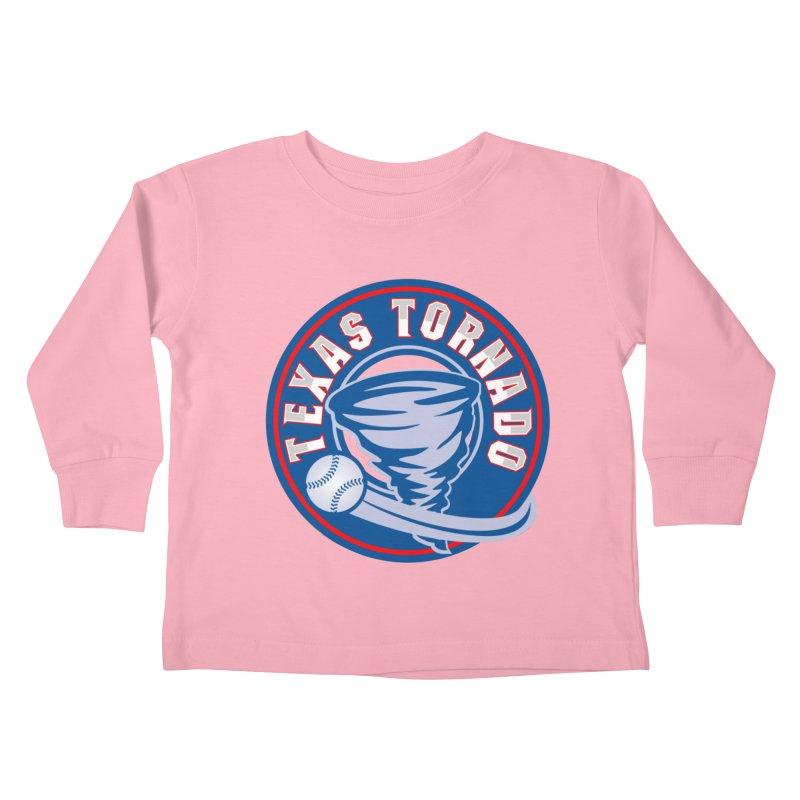 Texas Tornado (Wait For It) Large Design Kids Toddler Longsleeve T-Shirt by M A R I A N A    Z A P A T A