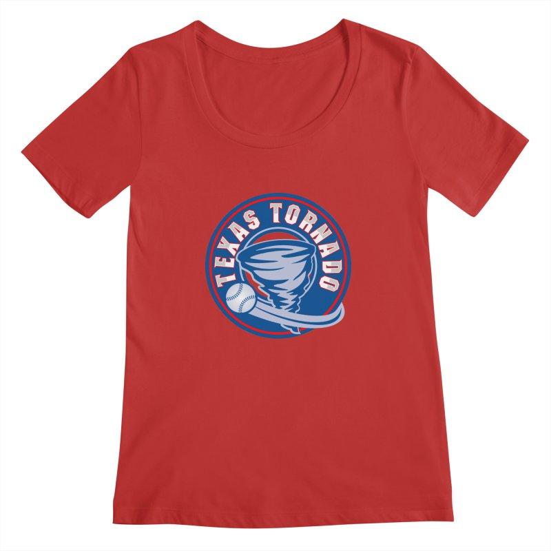 Texas Tornado (Wait For It) Large Design Women's Regular Scoop Neck by M A R I A N A    Z A P A T A