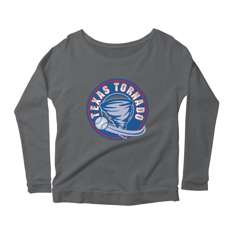 Texas Tornado (Wait For It) Large Design Women's Scoop Neck Longsleeve T-Shirt by M A R I A N A    Z A P A T A