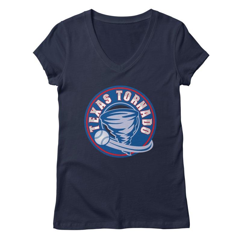 Texas Tornado (Wait For It) Large Design Women's Regular V-Neck by M A R I A N A    Z A P A T A