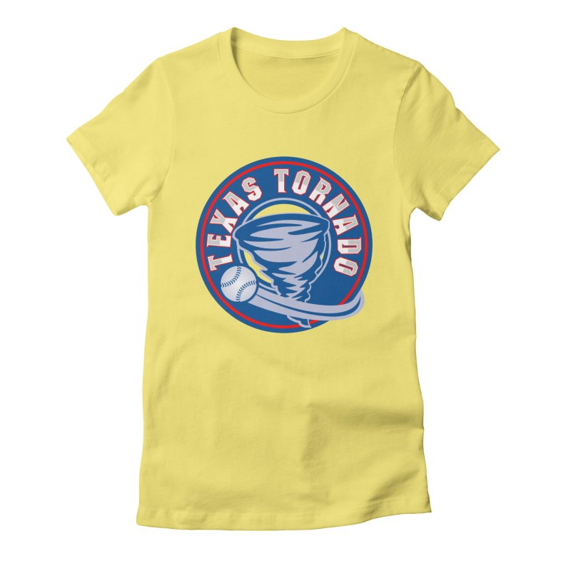 Texas Tornado (Wait For It) Large Design Women's Fitted T-Shirt by M A R I A N A    Z A P A T A