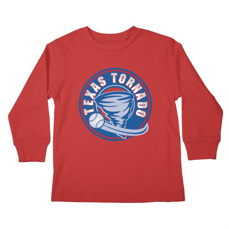 Texas Tornado (Wait For It) Large Design Kids Longsleeve T-Shirt by M A R I A N A    Z A P A T A