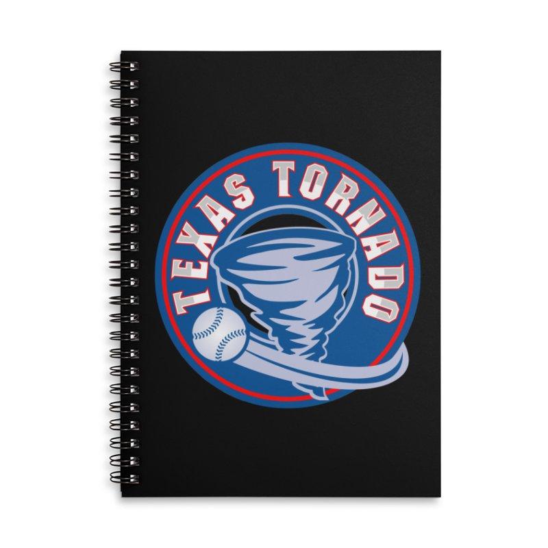 Texas Tornado (Wait For It) Large Design Accessories Lined Spiral Notebook by M A R I A N A    Z A P A T A