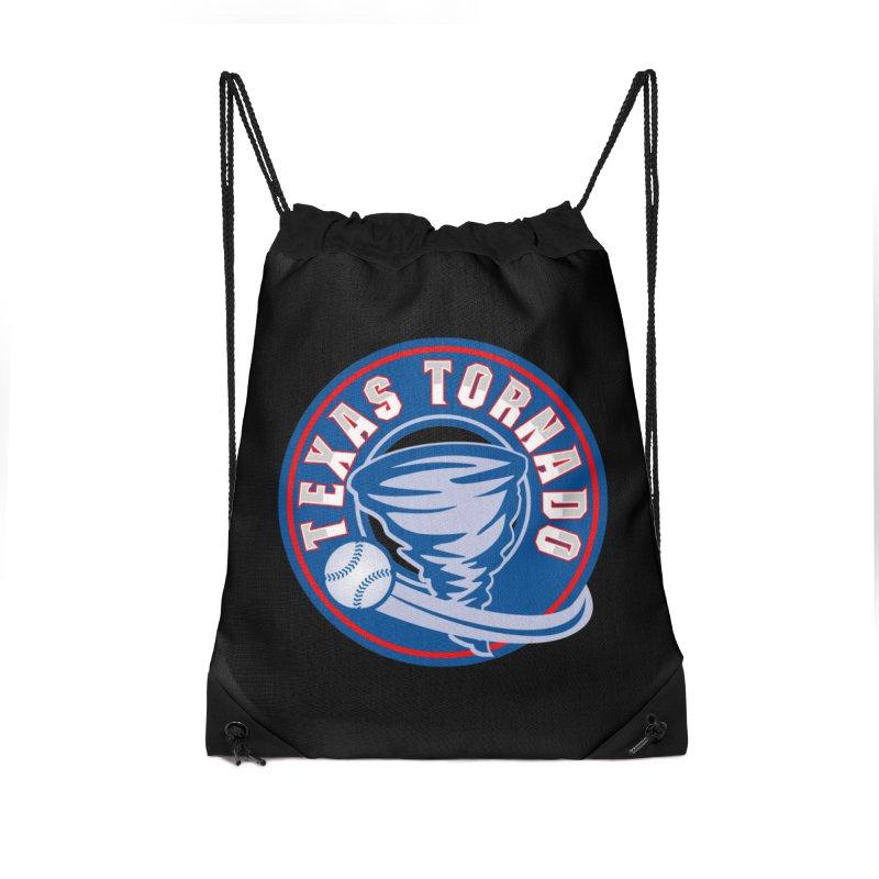 Texas Tornado (Wait For It) Large Design Accessories Drawstring Bag Bag by M A R I A N A    Z A P A T A