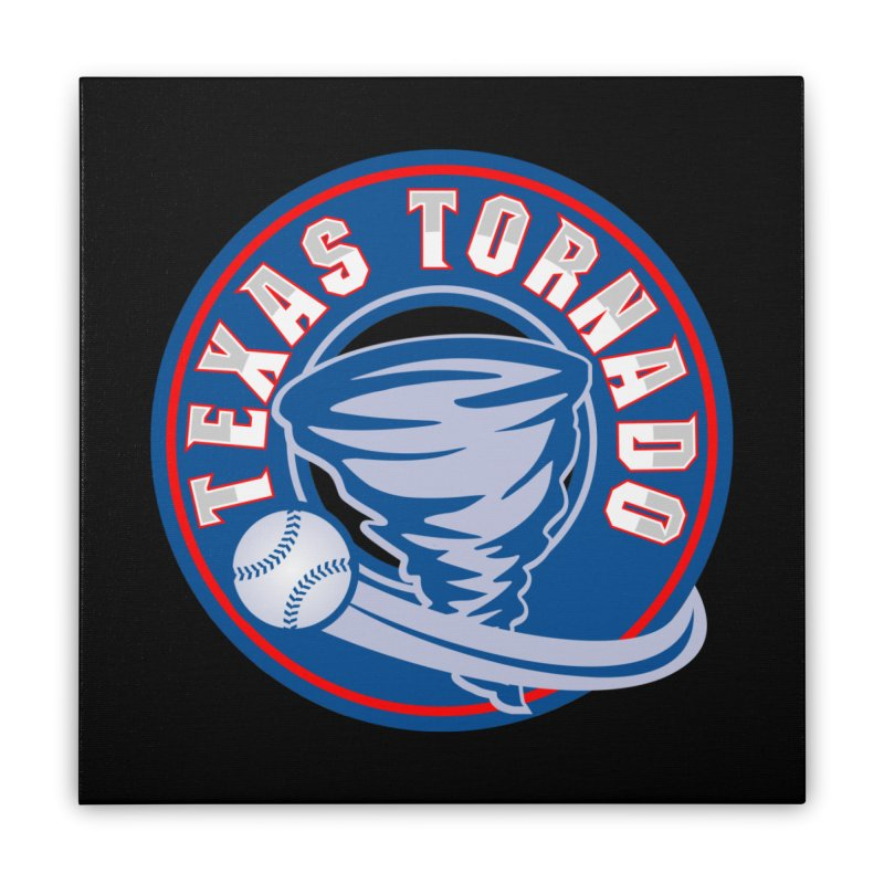 Texas Tornado (Wait For It) Large Design Home Stretched Canvas by M A R I A N A    Z A P A T A