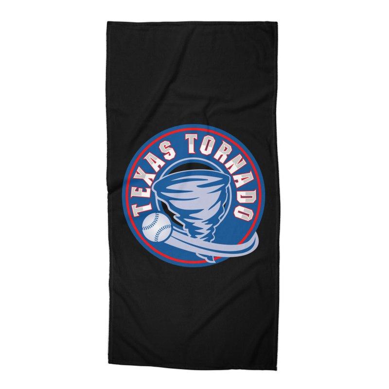 Texas Tornado (Wait For It) Large Design Accessories Beach Towel by M A R I A N A    Z A P A T A