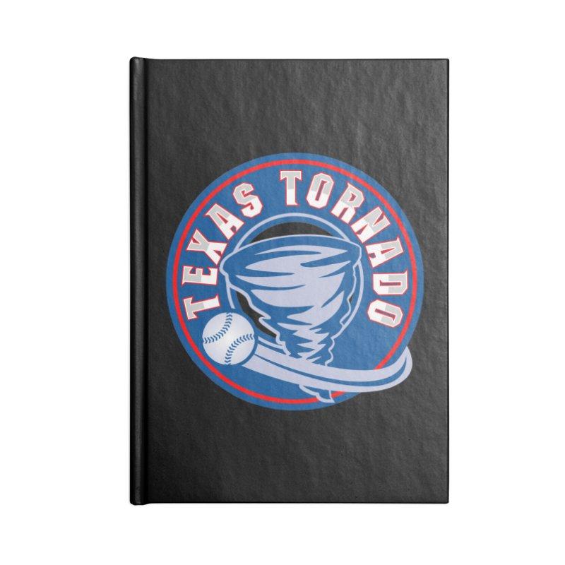 Texas Tornado (Wait For It) Large Design Accessories Lined Journal Notebook by M A R I A N A    Z A P A T A