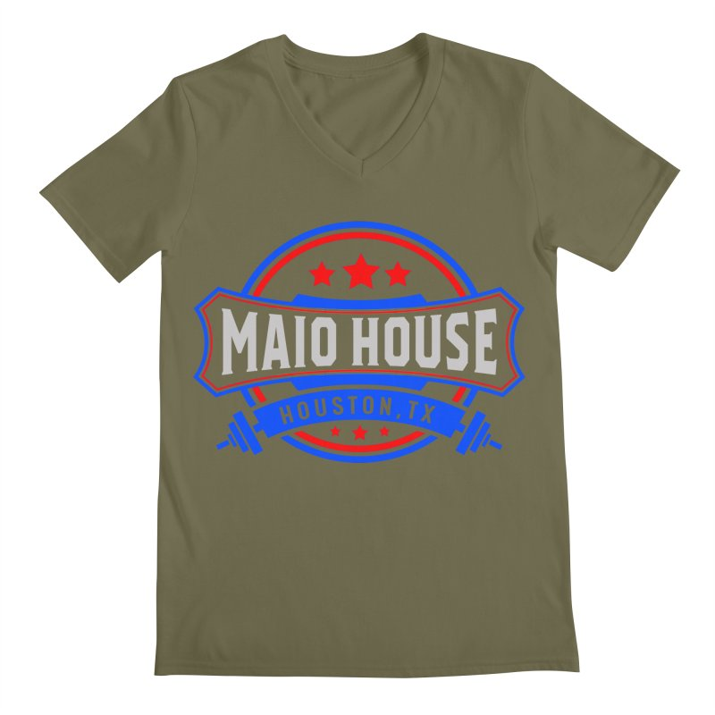 Maio House (The Best Thing) Men's Regular V-Neck by M A R I A N A    Z A P A T A