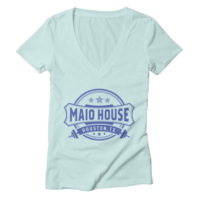 Maio House (The Best Thing) (Blue Inks) Women's Deep V-Neck V-Neck by M A R I A N A    Z A P A T A