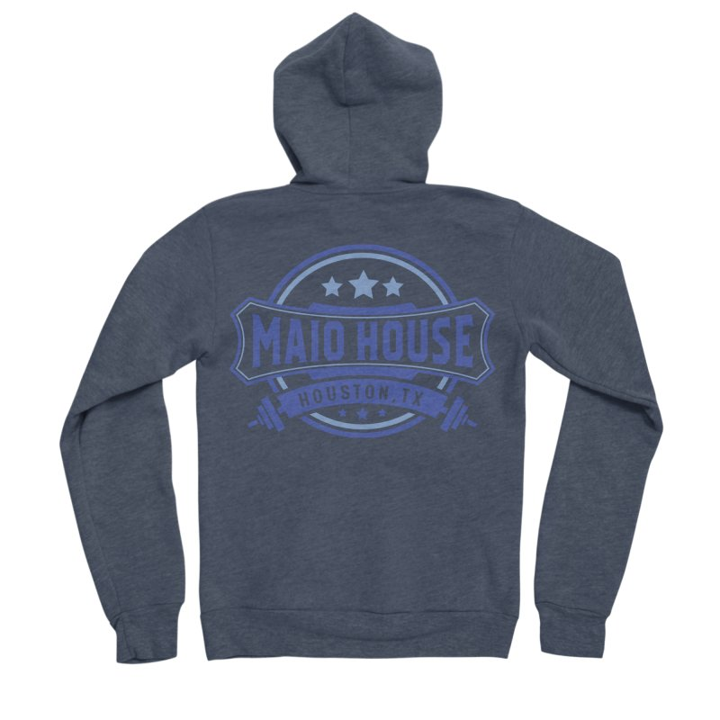 Maio House (The Best Thing) (Blue Inks) Women's Sponge Fleece Zip-Up Hoody by M A R I A N A    Z A P A T A