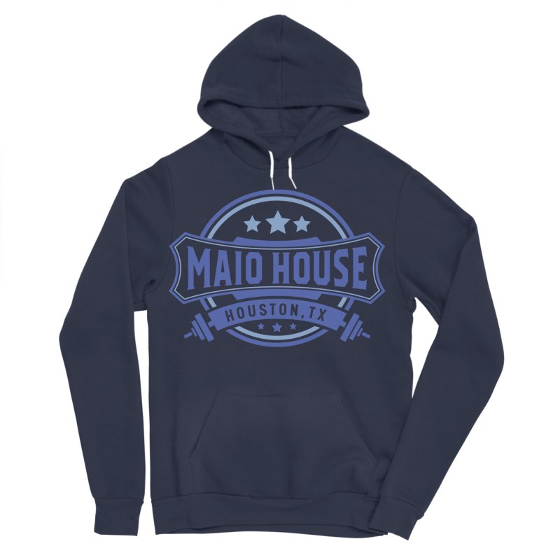 Maio House (The Best Thing) (Blue Inks) Women's Sponge Fleece Pullover Hoody by M A R I A N A    Z A P A T A