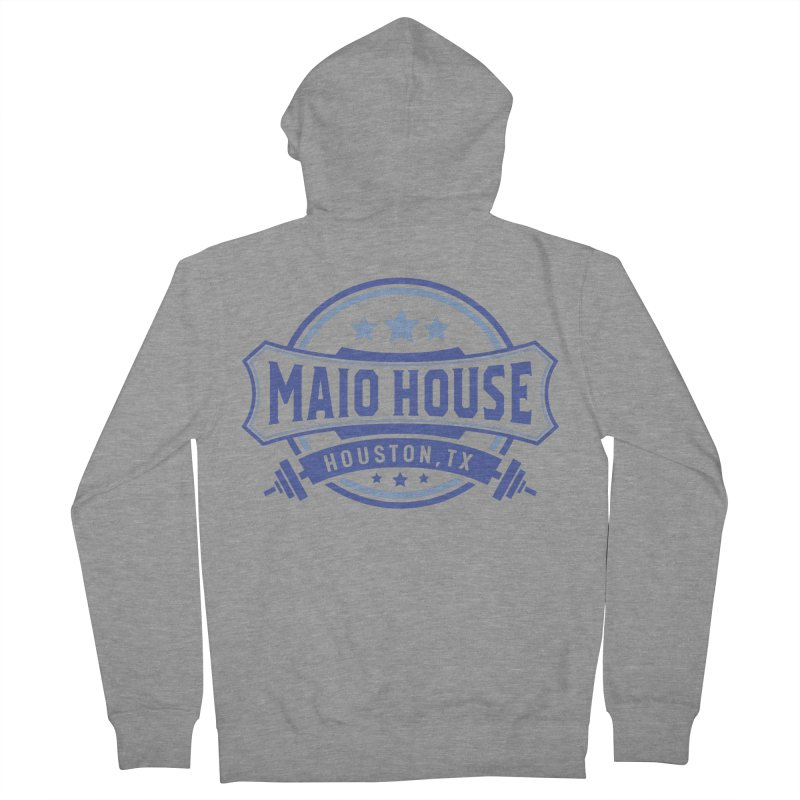 Maio House (The Best Thing) (Blue Inks) Women's French Terry Zip-Up Hoody by M A R I A N A    Z A P A T A