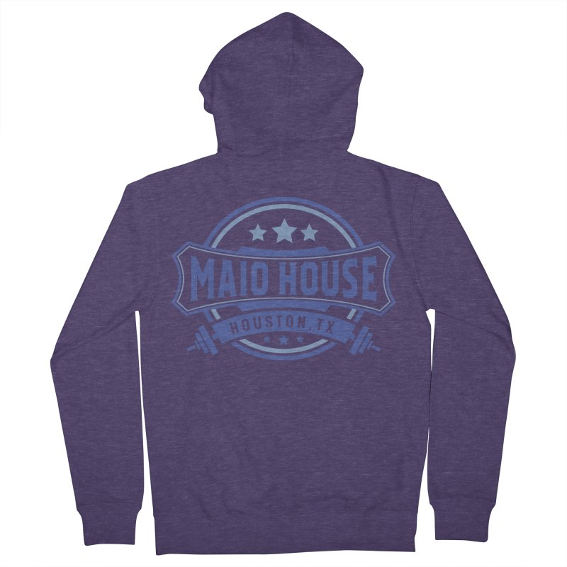 Maio House (The Best Thing) (Blue Inks) Men's French Terry Zip-Up Hoody by M A R I A N A    Z A P A T A