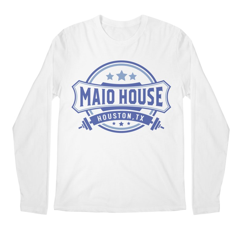 Maio House (The Best Thing) (Blue Inks) Men's Regular Longsleeve T-Shirt by M A R I A N A    Z A P A T A