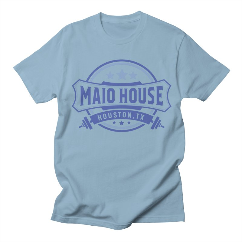 Maio House (The Best Thing) (Blue Inks) Men's Regular T-Shirt by M A R I A N A    Z A P A T A