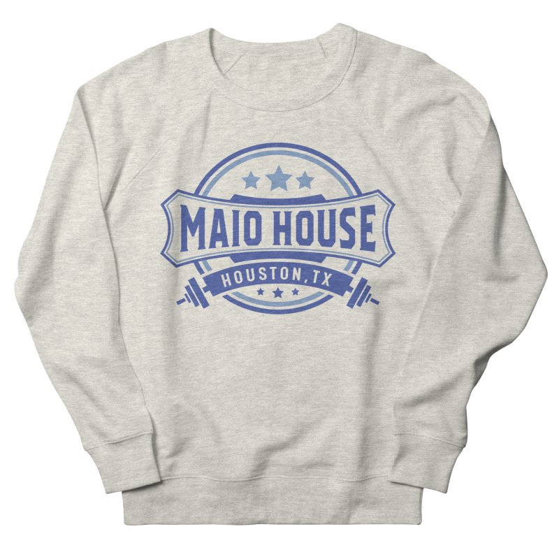 Maio House (The Best Thing) (Blue Inks) Men's French Terry Sweatshirt by M A R I A N A    Z A P A T A