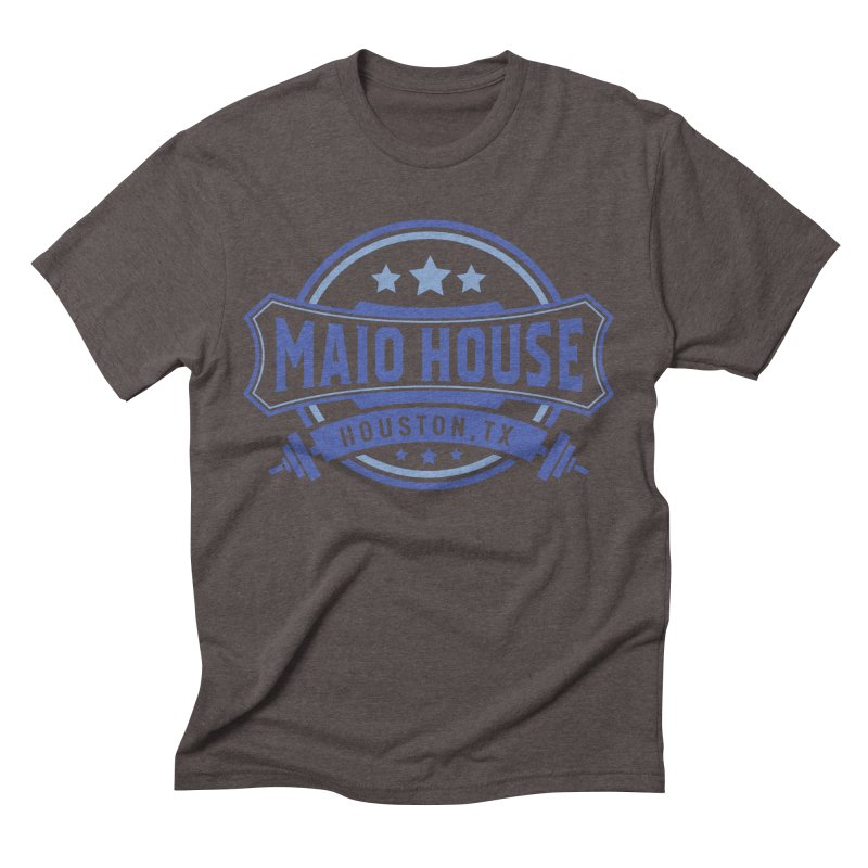 Maio House (The Best Thing) (Blue Inks) Men's Triblend T-Shirt by M A R I A N A    Z A P A T A