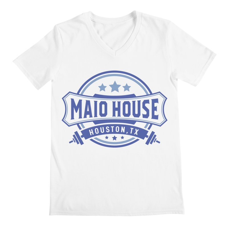 Maio House (The Best Thing) (Blue Inks) Men's V-Neck by M A R I A N A    Z A P A T A
