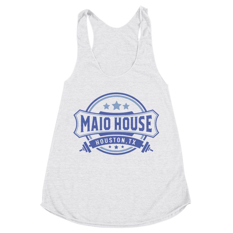 Maio House (The Best Thing) (Blue Inks) Women's Racerback Triblend Tank by M A R I A N A    Z A P A T A