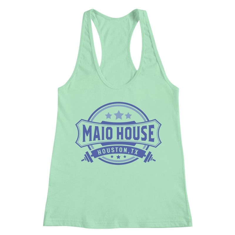 Maio House (The Best Thing) (Blue Inks) Women's Racerback Tank by M A R I A N A    Z A P A T A