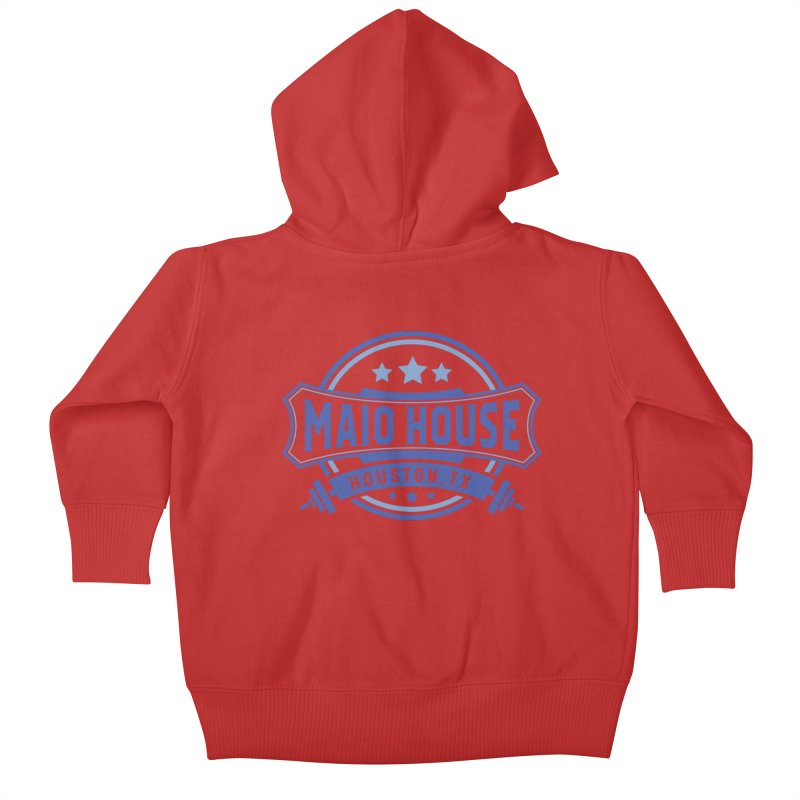 Maio House (The Best Thing) (Blue Inks) Kids Baby Zip-Up Hoody by M A R I A N A    Z A P A T A