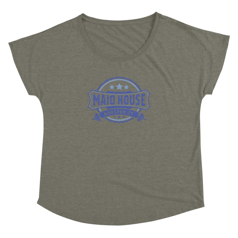 Maio House (The Best Thing) (Blue Inks) Women's Dolman Scoop Neck by M A R I A N A    Z A P A T A