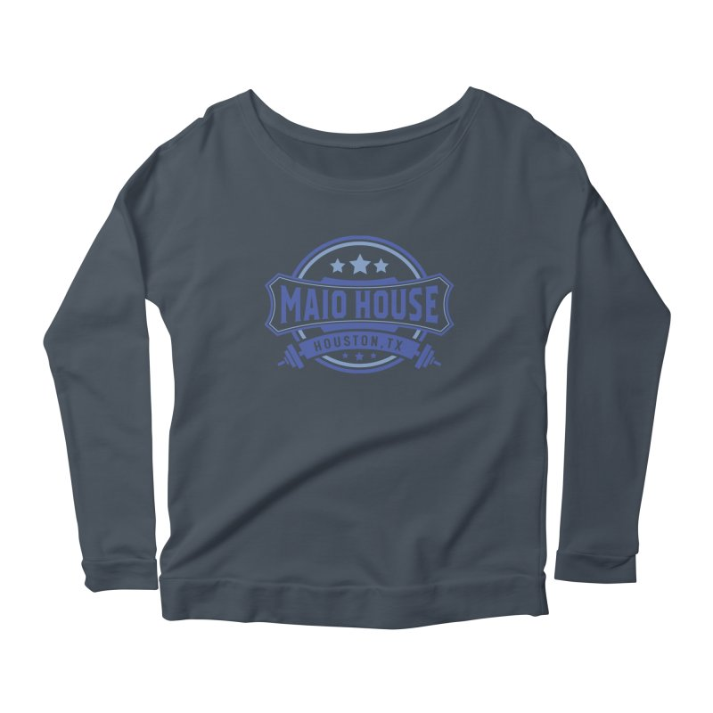 Maio House (The Best Thing) (Blue Inks) Women's Scoop Neck Longsleeve T-Shirt by M A R I A N A    Z A P A T A