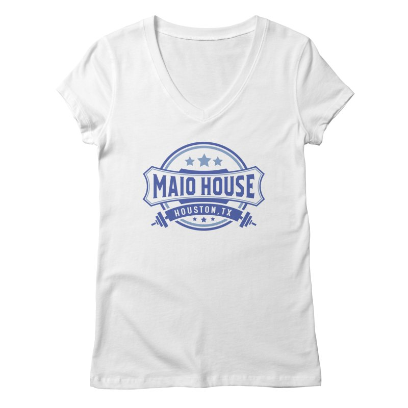 Maio House (The Best Thing) (Blue Inks) Women's Regular V-Neck by M A R I A N A    Z A P A T A