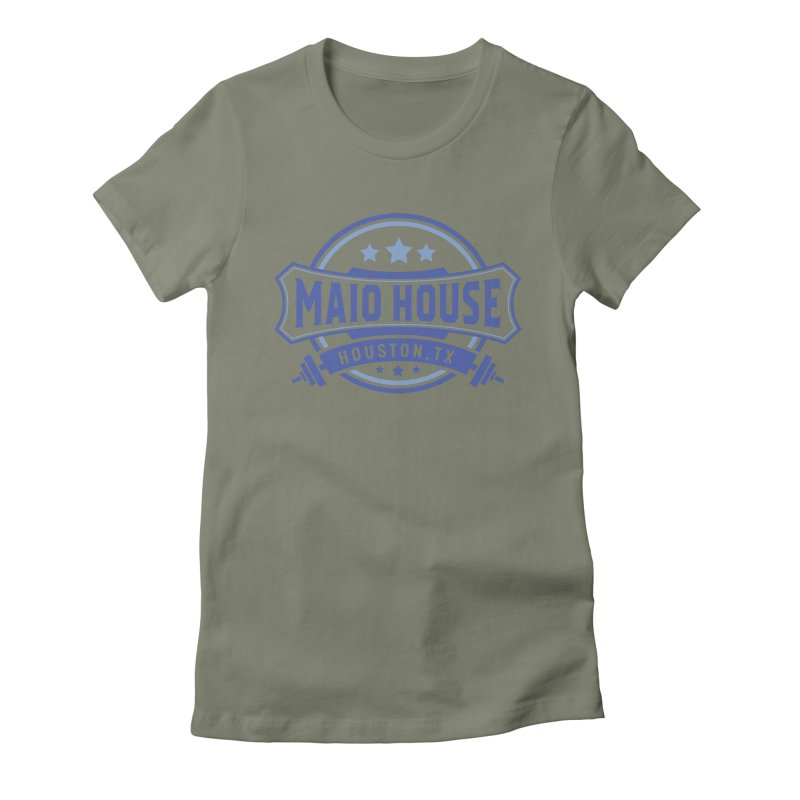 Maio House (The Best Thing) (Blue Inks) Women's Fitted T-Shirt by M A R I A N A    Z A P A T A
