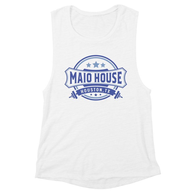 Maio House (The Best Thing) (Blue Inks) Women's Muscle Tank by M A R I A N A    Z A P A T A