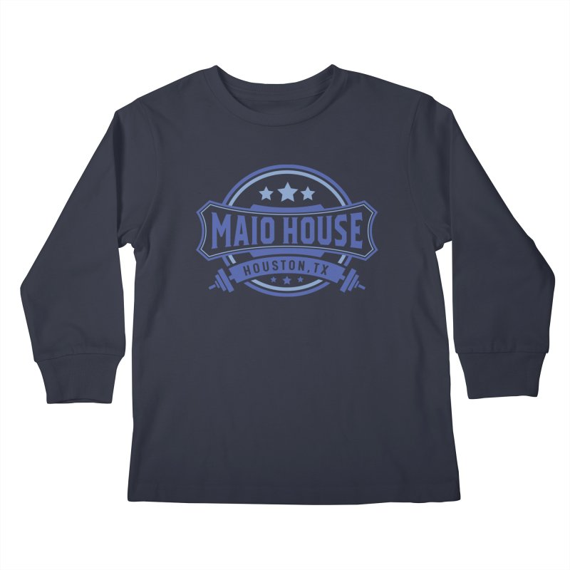 Maio House (The Best Thing) (Blue Inks) Kids Longsleeve T-Shirt by M A R I A N A    Z A P A T A